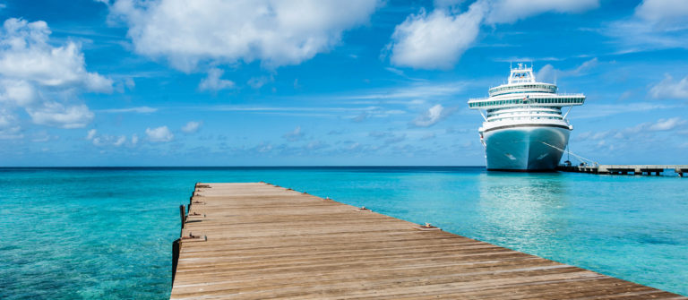 Ship Moored Caribbean Islands Cruise