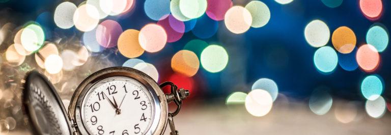 New Year's clock at midnight