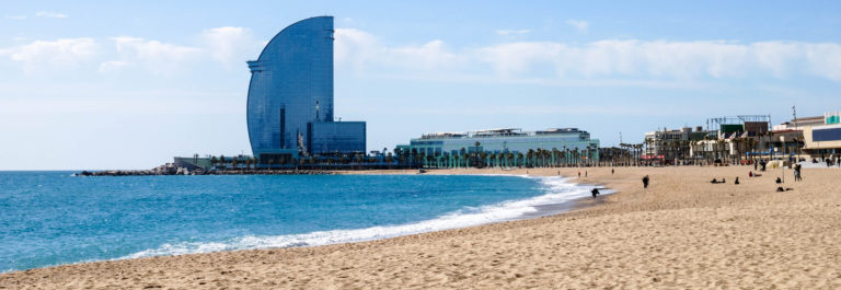 Beach at Barcelona. Spain