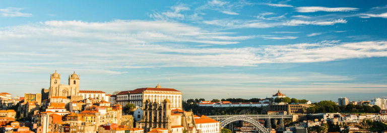 View of Porto city in Portugal