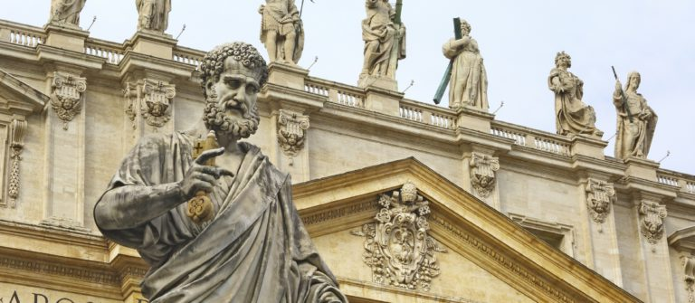 close-up-of-saint-peter-statue-in-basilica-rome-italy-istock_000030145856_large