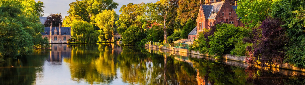 The Minnewater of Bruges, Belgium