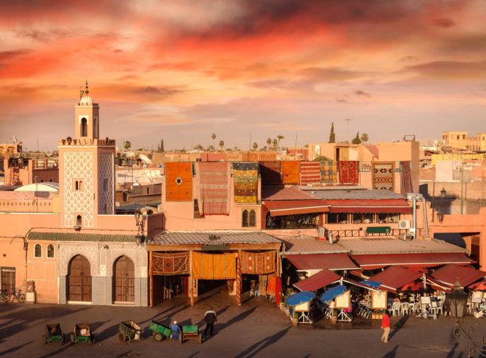 Djemaa el-Fna Square in Marrakesh