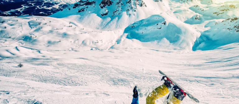 Snowboard crash.