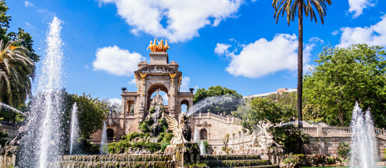 Fountain of Parc de la Ciutadella, in Barcelona, Spain
